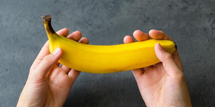 食卓に届いたバナナ