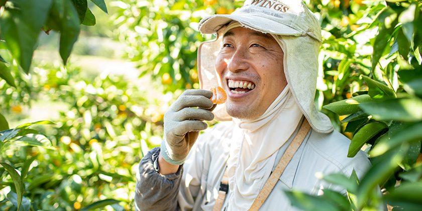 無茶々園の生産者、森下孝さん