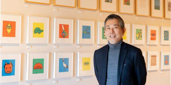 戸田やすしさん。戸田幸四郎絵本美術館にて